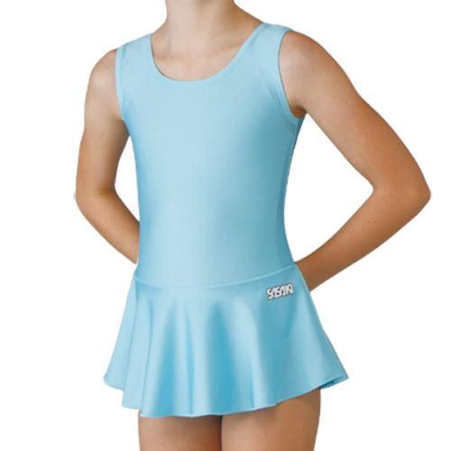 SASAKI ササキスポーツ 新体操 スカート付きレオタード[ジュニア用] J-7347S アクアブルーAQBU