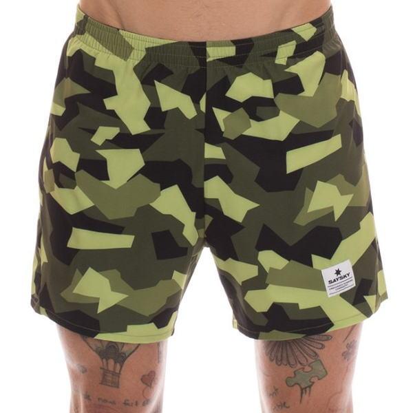 SAYSKY セイスカイ ランニングパンツ ショーツ Pace Shorts 6MRSH4 Green Splinter Camo<店頭在庫限り>