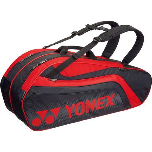 YONEX ヨネックス テニス用ラケットバック6 リュック付 ラケット6本用 BAG1812R 187 ブラック/レッド