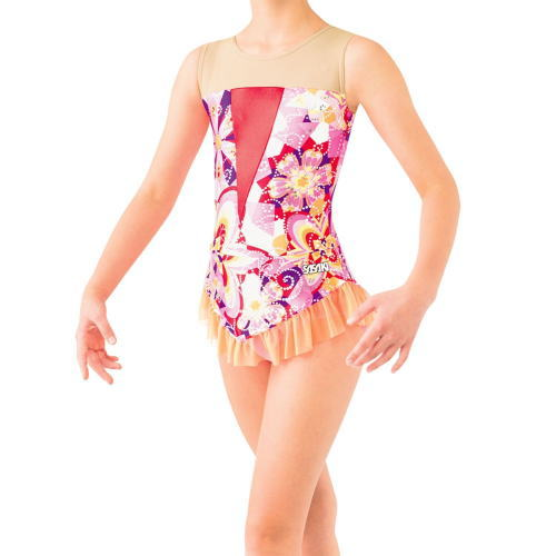 SASAKI ササキスポーツ 新体操 スカート付きレオタード[大人用] 7368S Pピンク<在庫僅少>
