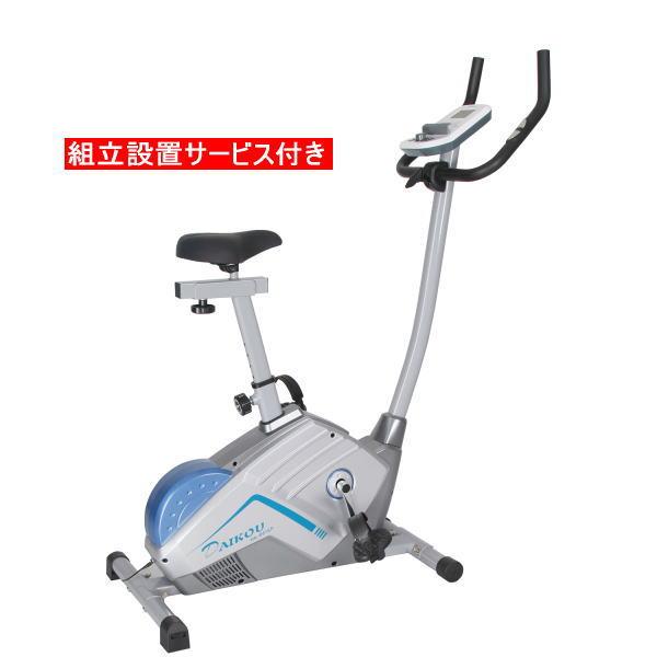 DAIKOU ダイコー DK-8615P 電動マグネット式アップライトバイク フィットネスバイク 組立設置サービス付き