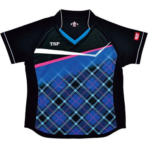 TSP ヤマト卓球 ウエア レディース ゲームシャツ レディスサナールシャツ 032415 0120 ブルー