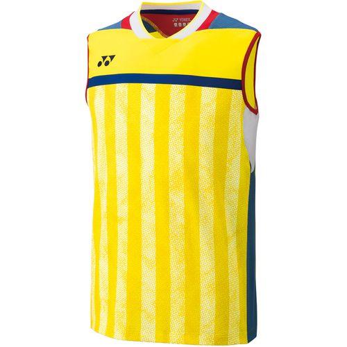 YONEX ヨネックス メンズ バドミントン ゲームシャツ ノースリーブシャツ 10248 279 ライトイエロー
