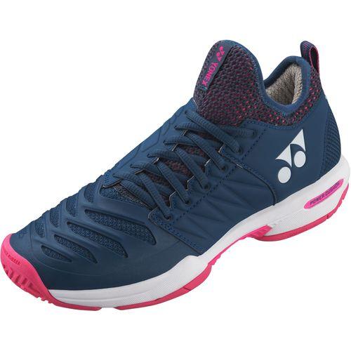 YONEX ヨネックス テニスシューズ パワークッション フュージョンレブ3 MAC SHTF3LAC 675 ネイビー/ピンク