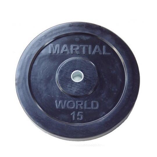 マーシャルワールド ラバープレート穴径28mm 15.0kg RP15000 バーベル/ダンベル用