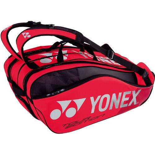 YONEX ヨネックス テニス ラケットバッグ9 ラケット9本収納 BAG1802N 596 フレイムレッド