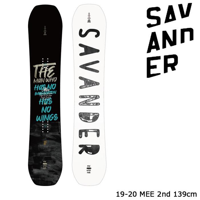 サバンダー スノーボード 板 19-20 SAVANDER MEE 2nd FACE 139 日本正規品