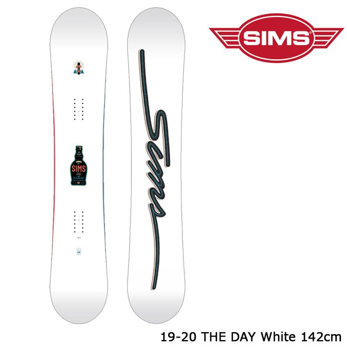 シムス スノーボード 板 19-20 SIMS THE DAY White 142 ザ デイ 日本正規品
