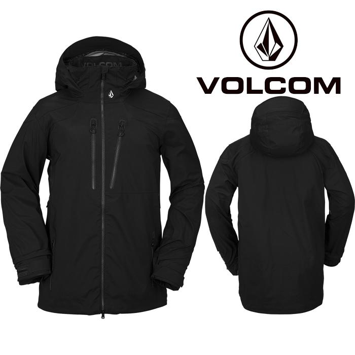 ボルコム ウェア ジャケット 20-21 VOLCOM GUCH STRETCH GORE JACKET BLK-Black G0652100 スノーボード ゴアテックス 日本正規品 予約