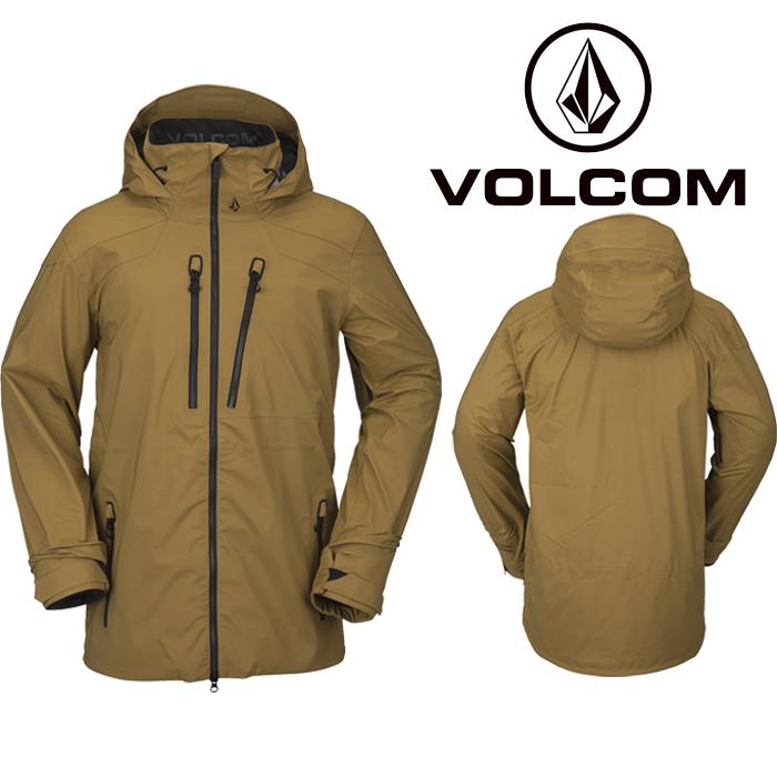 ボルコム ウェア ジャケット 20-21 VOLCOM GUCH STRETCH GORE JACKET BUK-Burnt Khaki G0652100 スノーボード ゴアテックス 日本正規品 予約