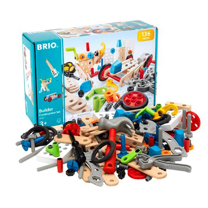 豊かな創造性を育てるシンプルで洗練されたデザインの玩具 ブリオ おもちゃ BRIO BUILDER CONSTRUCTION オモチャ コンストラクションセット 34587 ビルダー 国内在庫 SET 返品送料無料 玩具