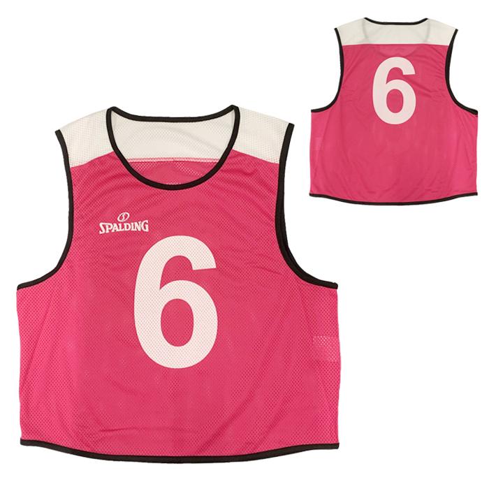 スポルディング SPALDING ビブス 6枚セット 6~11 PINK バスケットボール