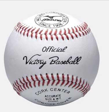 野球 ボール 硬式 高校試合球 12個入り 1BJBH10100 ミズノ ビクトリー