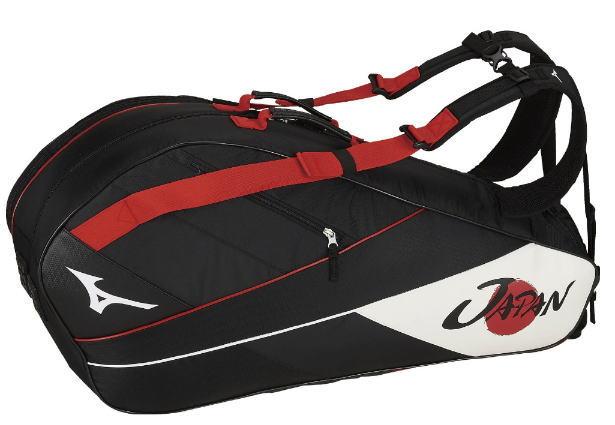 MIZUNO ミズノ ソフトテニス JAPAN ラケットバッグ 6本入れ テニス バッグ 63JD9X0196 展示会限定 日本代表モデル 軟式テニス 硬式テニス シューズポケット
