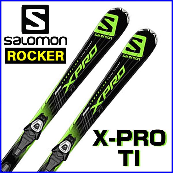 【あす楽対応可】サロモン ロッカースキー X-PRO TI+LITHIUM 10 L8 板+ビンディング 2点セット 154cm 【即納OK】SALOMON L37786700 ●15-16