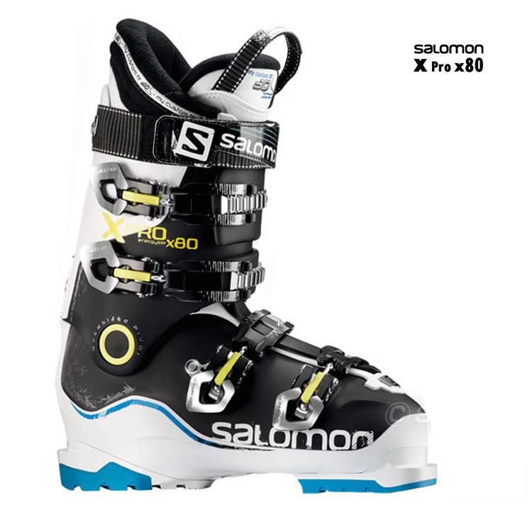 【あす楽対応可】☆サロモン スキーブーツ X PRO X80 ホワイト/ブラック/イエロー スキー靴【即納OK】 SALOMON エックスプロ L37189500_ ●14-15