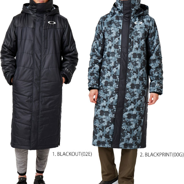 オークリー メンズ ベンチコート ロングコート アウター Enhance Wind Warm Long Coat 9.7 oakley 412855JP トレーニングウェア 野球 ブラック