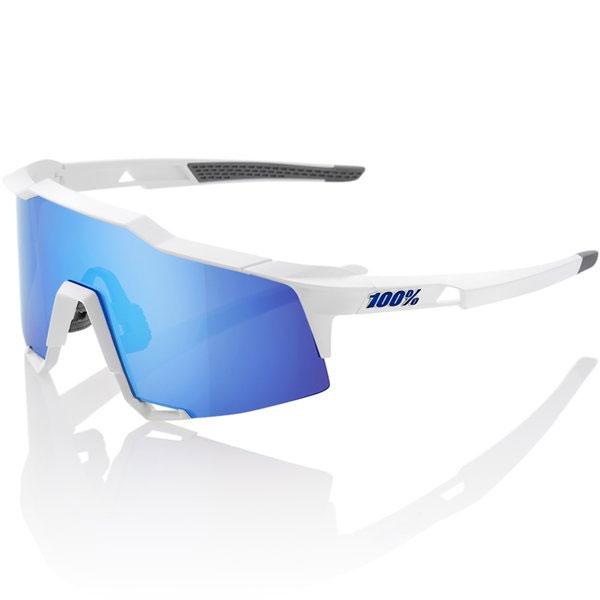 100%(ワンハンドレッド) 61001-000-75 サングラス SPEEDCRAFT Matte White - HiPER Blue Multilayer Mirror Lens
