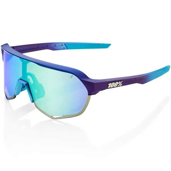 100%(ワンハンドレッド) 61003-390-69 サングラス S2 Matte Metallic Into the Fade - Blue Topaz Multilayer Mirror Lens