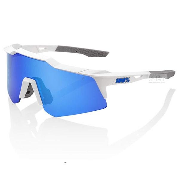 100%(ワンハンドレッド) 61005-000-62 サングラス SPEEDCRAFT XS Matte White - Blue Multilayer Mirror Lens