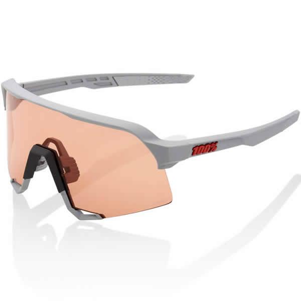 100%(ワンハンドレッド) 61034-289-79 サングラス S3 Soft Tact Stone Grey - HiPER Coral Lens