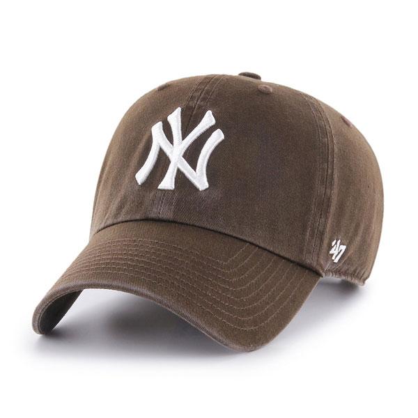 47 ついに再販開始 ヤンキース 帽子 価格 交渉 送料無料 キャップ クリーンナップ フォーティーセブン Yankees '47 CLEAN メンズ ニューヨーク レディース 一般 UP ブラウン 大人 brown