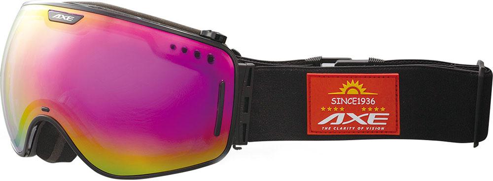 AXE(アックス)スキーゴーグル・サングラスメンズ スノーゴーグル UVカットAX960SPシャイニーブラック
