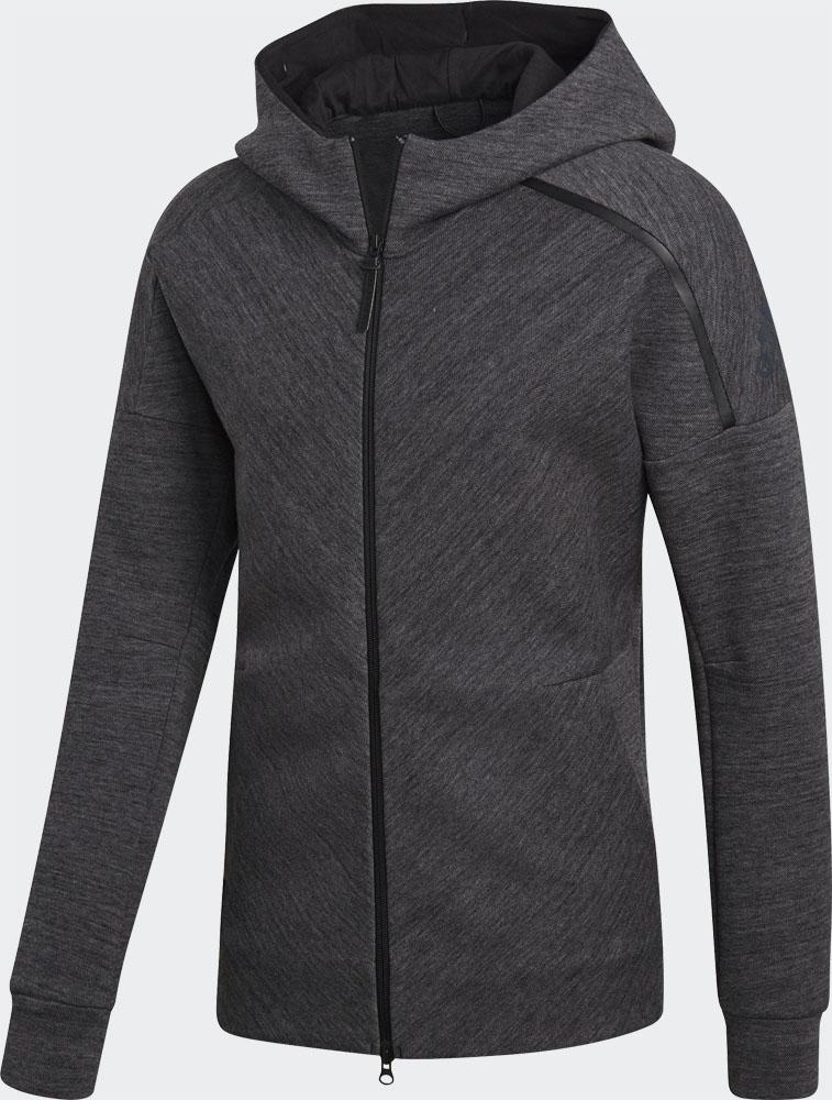 adidas(アディダス)ラグビーアメウインドウェアオールブラックス Z.N.E.フーディージャケットDMQ50ストームヘザー/BLK