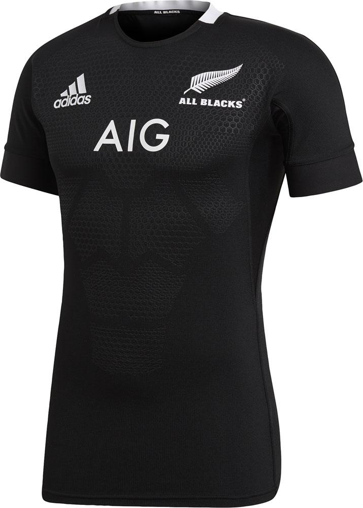 adidas(アディダス)ラグビーアメゲームシャツ・パンツオールブラックス オーセンティックジャージEKX67BLK