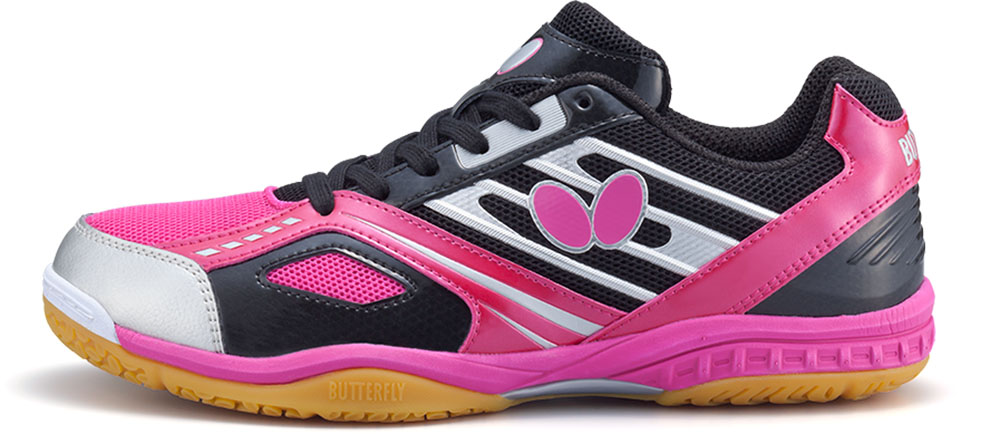 バタフライ(Butterfly)卓球シューズ男女兼用 卓球シューズ レゾラインマッハ93630ブラック/ピンク