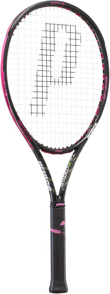 Prince(プリンス)テニステニスラケット ビースト O3 104 ブラック×ラズベリーピンク 280g7TJ085