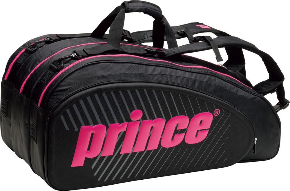 Prince(プリンス)テニスバッグ【男女兼用 テニス用ラケットバッグ】 ラケットバッグ9本入TT701BLK/MGT
