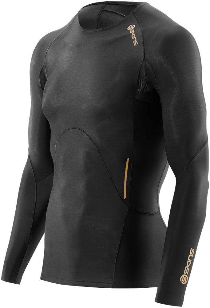 SKINS(スキンズ)ボディケアゲームシャツ・パンツA400 ULTIMATE メンズ ロングスリーブトップK32001005DBKBK