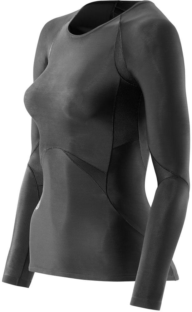 SKINS(スキンズ)ボディケアゲームシャツ・パンツRY400 ウィメンズロングスリーブトップK48001005Dブラック