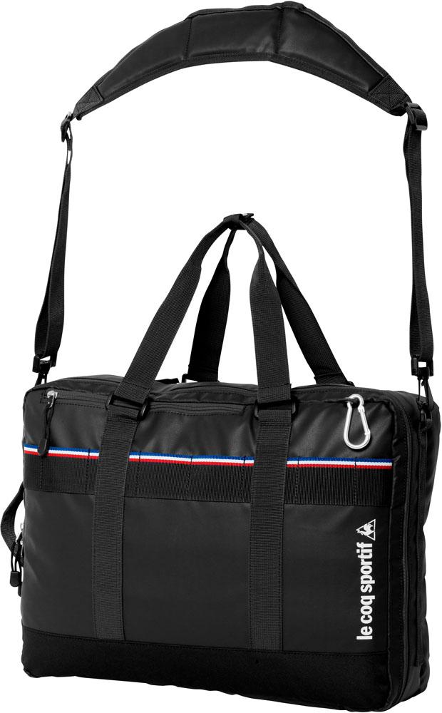 le coq sportif(ルコック)テニスバッグ3WAYラケットバッグ テニス用(2本入)QTALJA02ブラック