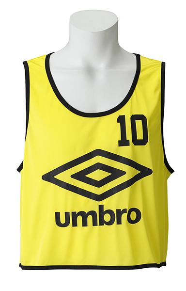 UMBRO(アンブロ)サッカーゲームシャツ・パンツストロングビブスUBS7557ZFイエロ