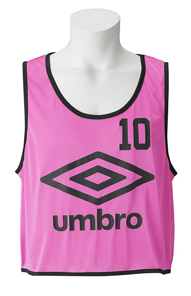 UMBRO(アンブロ)サッカーゲームシャツ・パンツストロングビブスUBS7557ZSピンク