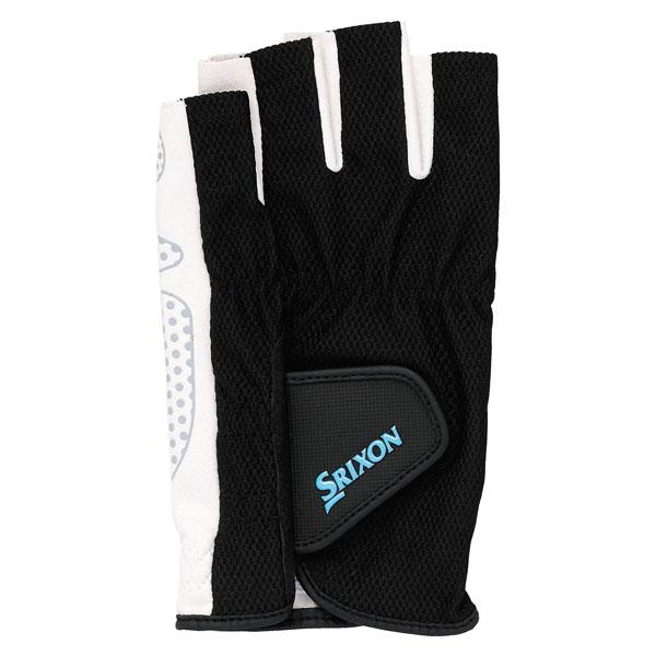 SRIXON(スリクソン)テニスメンズ シリコンプリントグローブ ハーフタイプ(両手セット)SGG2590