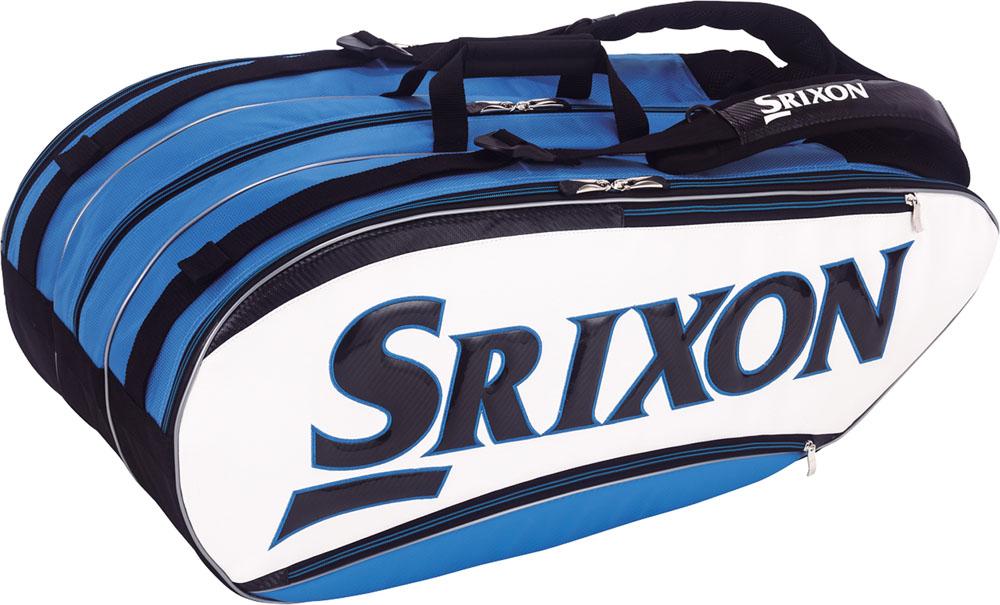 SRIXON(スリクソン)テニスバッグ【男女兼用 テニス用ラケットバッグ】 ラケットバッグ ラケット12本収納可SPC2781ホワイトブル-