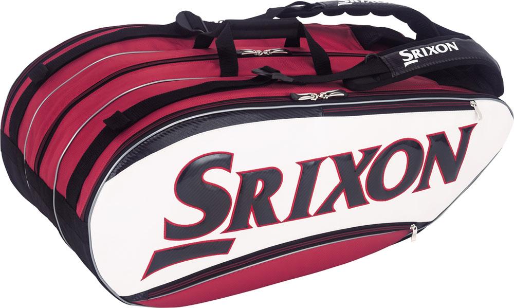 SRIXON(スリクソン)テニスバッグ【男女兼用 テニス用ラケットバッグ】 ラケットバッグ ラケット12本収納可SPC2781ホワイトレツド