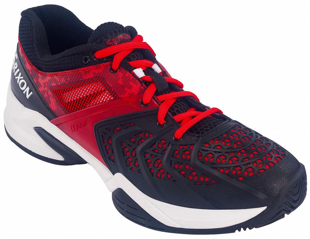 SRIXON(スリクソン)テニスシューズ(メンズ テニスシューズ(オールコート用)) プロスパイダー アルファグリップ2 メンズ オールコート ブラック×レッドSRS370MBR