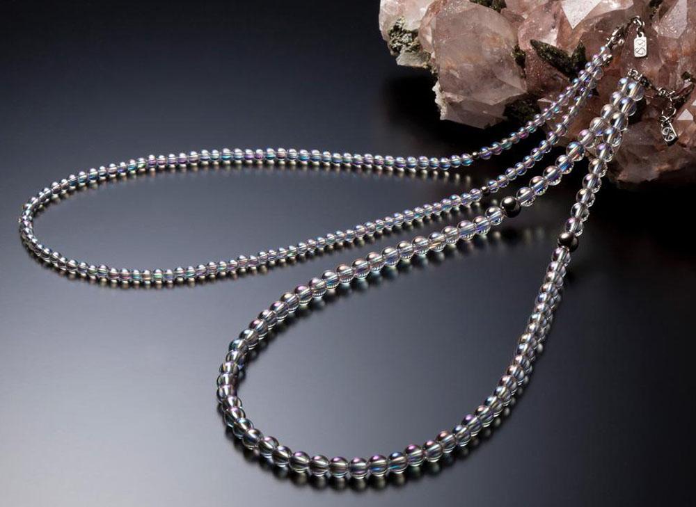 ファイテン(PHITEN)ボディケアグッズその他チタン水晶ネックレス(+5cmアジャスター)AQ814053