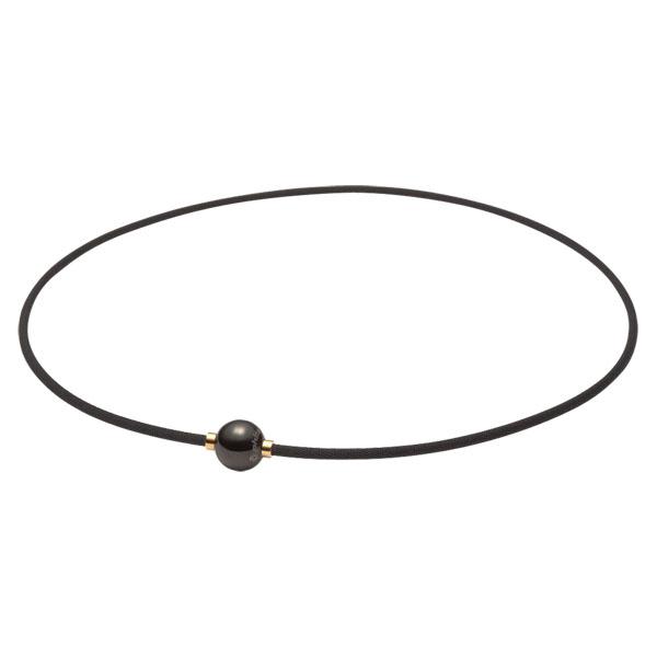 ファイテン(PHITEN)ボディケアRAKUWAネックX100(ミラーボール)ブラック×ゴールド 45cm羽生結弦使用モデルTG640052