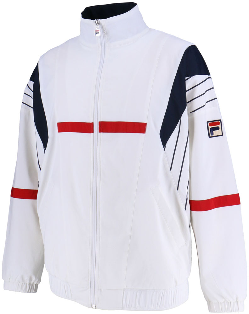FILA(フィラ)テニスウインドウェアウィンドアップジャケット メンズ テニスウェアVM5355ホワイト