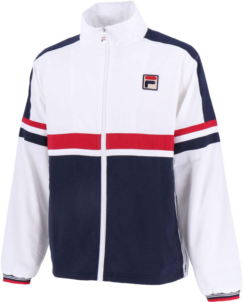 FILA(フィラ)テニスウインドウェアメンズ ウィンドアップジャケットVM5410ホワイト