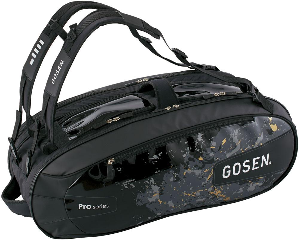 GOSEN(ゴーセン)テニスバッグラケットバッグ Pro4(ラケット4本入)BA18PR4ブラック