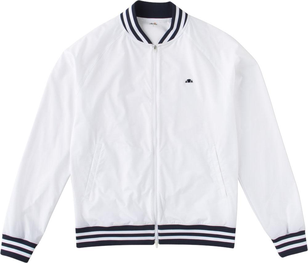 Ellesse(エレッセ)テニスウインドウェアメンズ テニスウェア クラブジャケットEM58101ホワイト