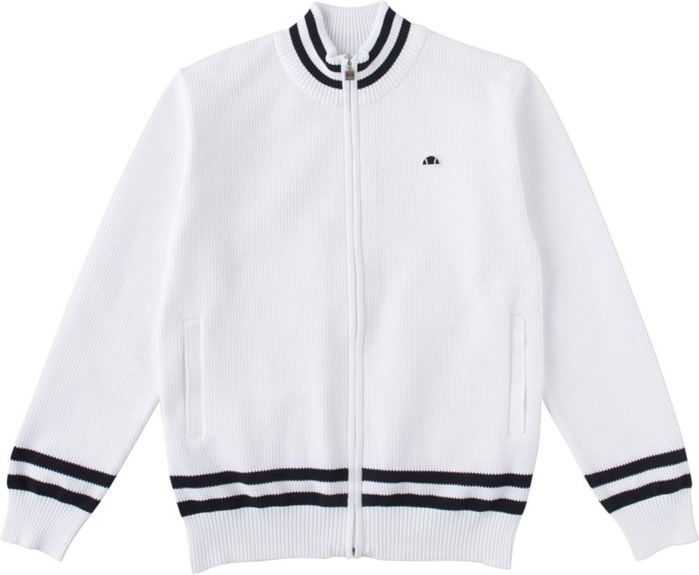 Ellesse(エレッセ)テニスウインドウェアメンズ テニスウェア クラブニットジャケットEM78101ホワイト