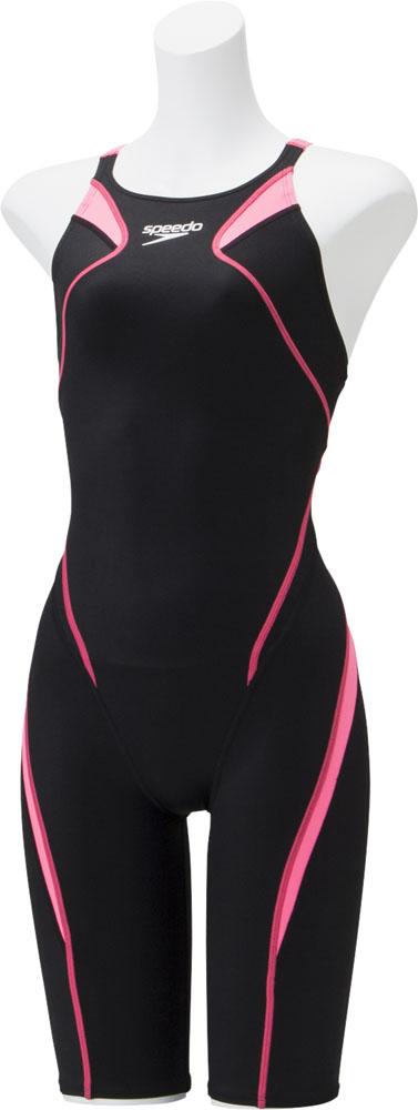 Speedo(スピード)水泳水球競技水着アトラスニースキンジュニアSCG11906FBピンク