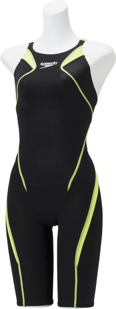 Speedo(スピード)水泳水球競技水着アトラスニースキンジュニアSCG11906FCグリーン
